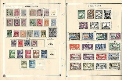 Sierra Leone Collection 1884-1938 on Scott International Pages, 2 Pages British