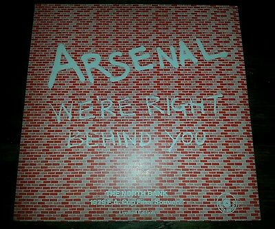 """Arsenal We're Right Behind You! 12"""" Red Vinyl Ltd 1979 F.a Cup Final  Rrs 1"""