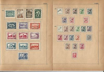Spain Collection on Schaubeck Pages 1930 to 1931, 4 Pages