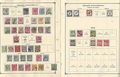 Straits Settlements, Malaya Collection 1883-1939 on 8 Scott International Pages