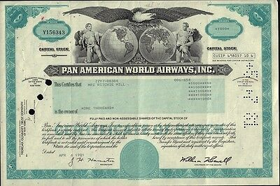 PAN  AMERICAN  WORLD  AIRWAYS 1981 issued to Ritchie Hill