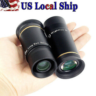 "1.25"" 6mm/9mm Ultra Wide Telescope Eyepiece Set Fully Multi-Coated Astronomy US"
