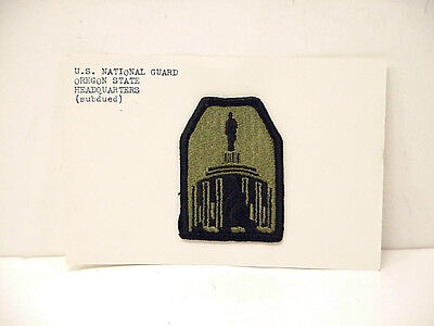 U. S. National Guard Oregon State Headquarters Patch (Subdued)
