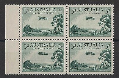 1929 Australia KG V SG 115 Air Mail muh block four type A