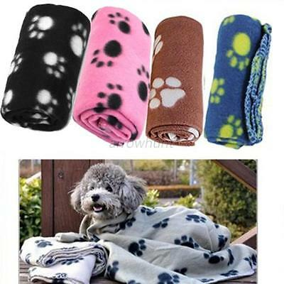 Cute New Dog Cats Pets Puppy Warm Fleece Blanket Puppy Bed Mat House Cushion New