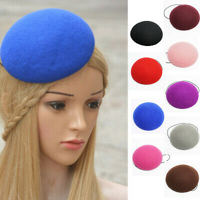 14cm Circle Button 100% Wool Felt Hat Millinery Supply Fascinator Base A263