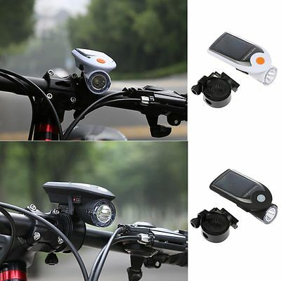 Bike Bicycle LED Solar USB2.0 Rechargeable Front Head Light Headlight Lamp New