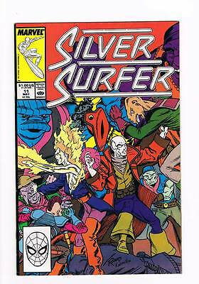 Silver Surfer # 11 Vol 2 1987 series !  grade - 8.5 scarce book !!