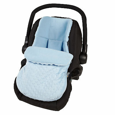 New 4Baby Dimple Blue Universal Baby Car Seat Footmuff Carseat Cosytoes