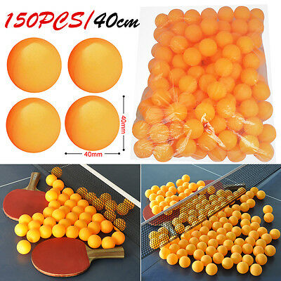 150 Table Tennis Balls Plastic Ping Pong Small Orange Replacement Practice Sport