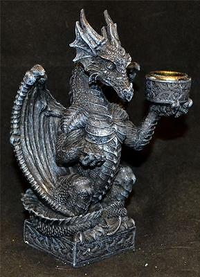 Nemesis Now Light Keeper GOTHIC DRAGON CANDLESTICK FIGURE Wiccan Pagan