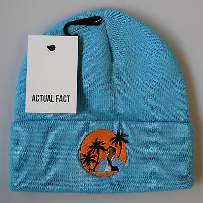 ACTUAL FACT TUPAC Black Beanie Winter 2Pac Roll Up Wooly