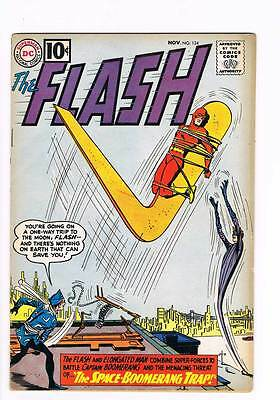 Flash # 124 Space Boomerang Trap ! grade 5.5 scarce book !!