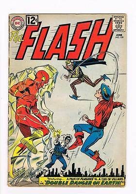 Flash # 129 Double Danger on Earth ! GA Flash crossover grade 2.0 scarce book !!