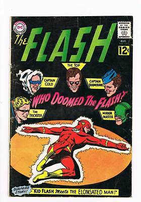 Flash # 130 Who Doomed The Flash ?!  grade 4.5 scarce book !!