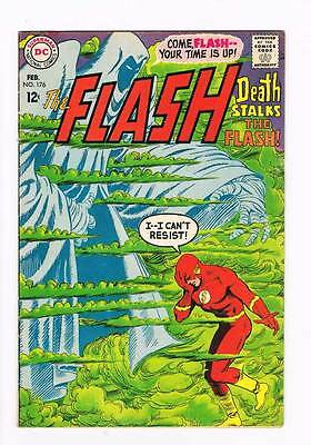 Flash # 176 Death Stalks the Flash ! grade 6.5 scarce book !!