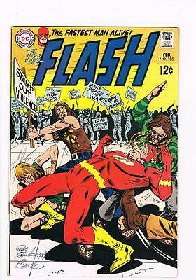 Flash # 185 Threat of the High-Rise Buildings ! grade 6.0 scarce book !!