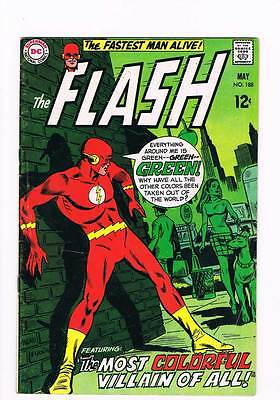 Flash # 188 The Most Colorful Villain Of All ! grade 4.0 scarce book !!