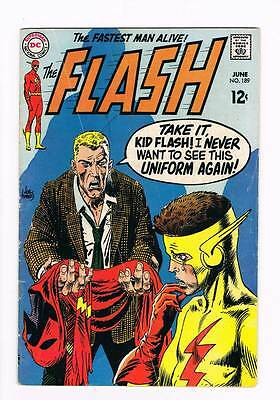 Flash # 189 Death Touch of the Blue Ghost ! grade 4.0 scarce book !!