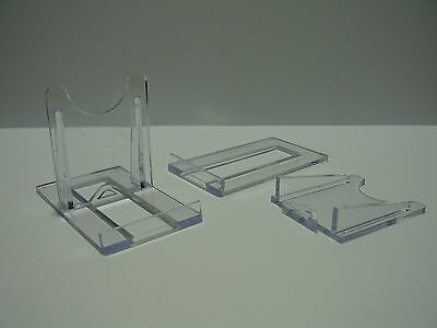 "DISPLAY STANDS  2"" Clear Plastic 5cm Adjustable Plates Cards  (1,2,4,6,8,10,12)"