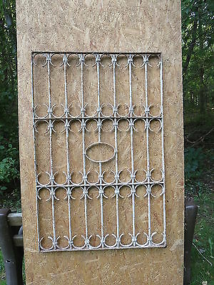 Antique Victorian Iron Gate Window Garden Fence Architectural Salvage Door EEE