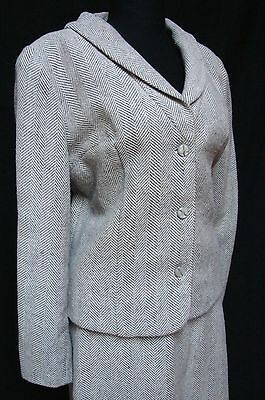 1960s Vintage TWO TONE GREY & WHITE WOOL FLECK SUIT
