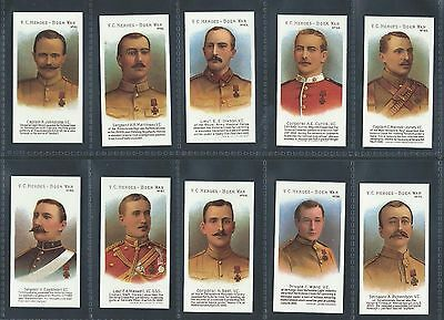Taddy Vc Heroes Of The Boer War 61-80 Full Set Mint Reproduction Victoria Cross