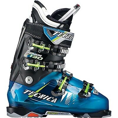 2014 Tecnica Demon 130 Sky Blue/Black Size 27.5 Men's Ski Boots