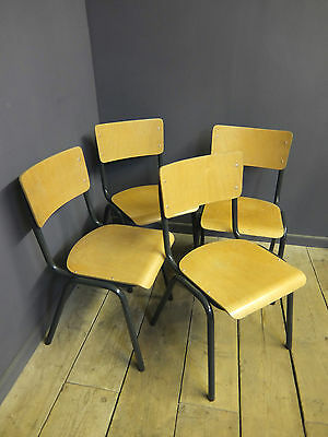 Vintage Stacking Chairs, Industrial, Cafe • £25.00