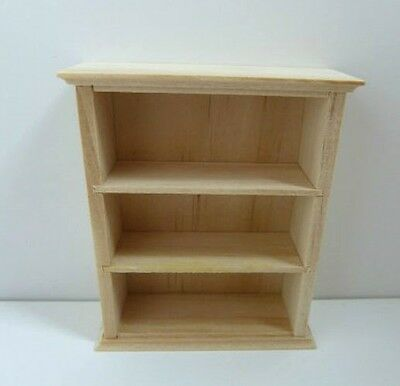 Dolls House Furniture: Light Wood Kitchen Shelves in 12th scale