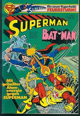 Superman Batman Nr.7 vom 2.4.1980 mit Sammel-Ecke - TOP Z1 EHAPA COMIC