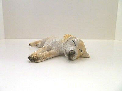 Dolls House 12th scale Resin figure of Ben the sleeping Labrador