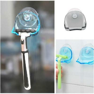 New Bathroom Shaver Toothbrush Holder Wall Sucker Suction Cup Hook Razor White Z