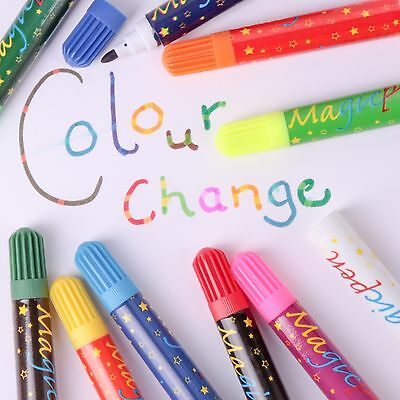10 x MAGIC COLOUR SWAP PEN SET Colouring Felt Tip Markers Change Kids/Children