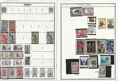 Africa 1890-1999 Collection on Harris Pages, Over 50 Pages, Angola, Dahomey +