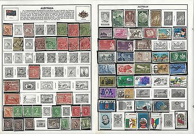 Australia 1913-2004 Collection on Harris Pages, Around 35 Pages of Stamps