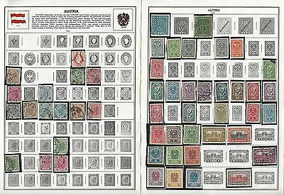Austria 1850-2004 Collection on Harris Pages, Around 15 Pages of Stamps