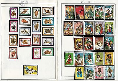 Belize 1973-2002 Collection on Harris Pages, 8 Pages
