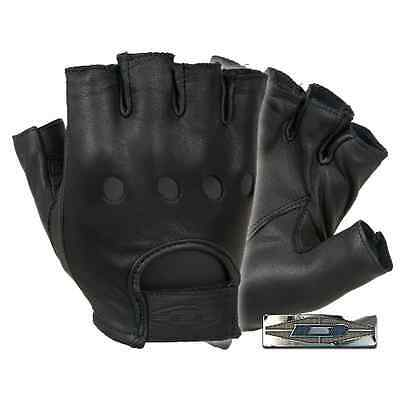 Damascus D22S Premium Leather Driving Gloves 1/2 Finger Large