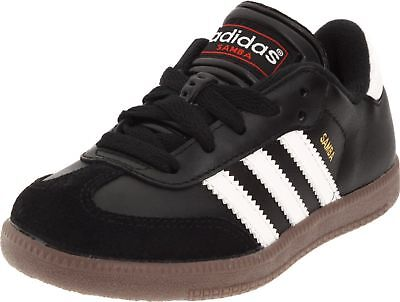 NEW Boy's Adidas Samba Classic Jr SOCCER SPORT 3 stripe Sneakers Tennis Shoes