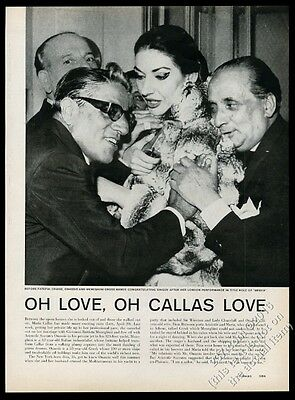 1959 Maria Callas and Aristotle Onassis 4 photo vintage print article