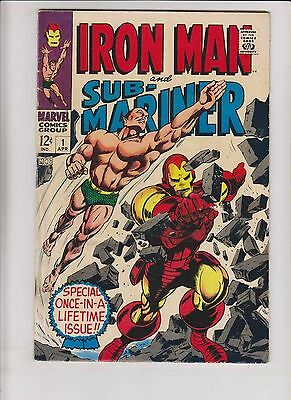 Iron Man and Sub-Mariner #1 GD/VG silver age marvel comics - written by stan lee