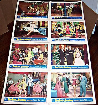 She's Back On Broadway (1953) Sexy Virginia Mayo Original 8 Card Lobby Set