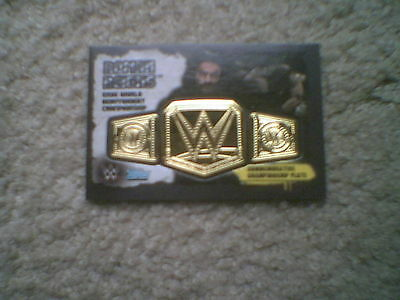 Topps Slam Attax Takeover - Roman Reigns Gold Metal Championship Rare card