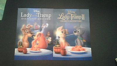 Disney Movie Club 3D Lenticular Card Lady and the Tramp 1-2 RARE collector's