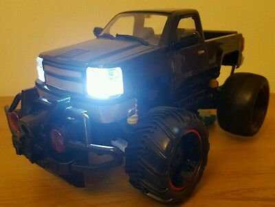 LARGE MONSTER TRUCK RECHARGEABLE Radio Remote Control Car LED LIGHTS FAST Black
