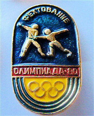 Moscow 1980 Olympic Games Fencing Pin