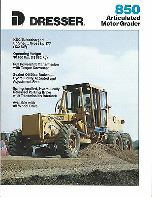 Equipment Brochure - Dresser - 850 - Articulated Motor Grader - c1991 (E3374)