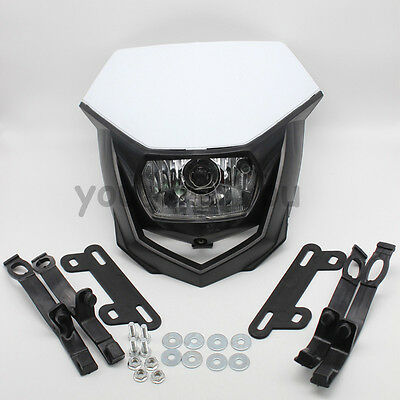 Dirt Bike Motorcycle Universal Vision Headlight Street Fighter Headlamp White