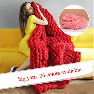 New 26 Color Big Thick Knitting Yarn DIY Wool Yarn For Hand Knitting 250G TY